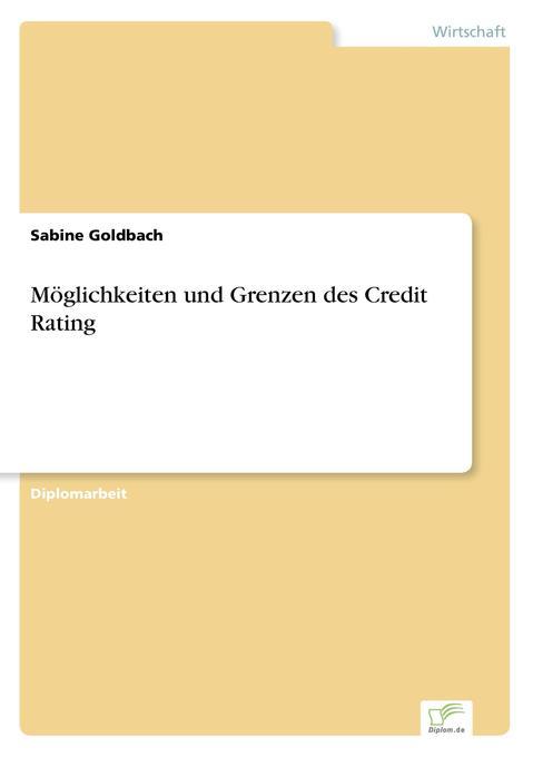 Möglichkeiten und Grenzen des Credit Rating als Buch (gebunden)