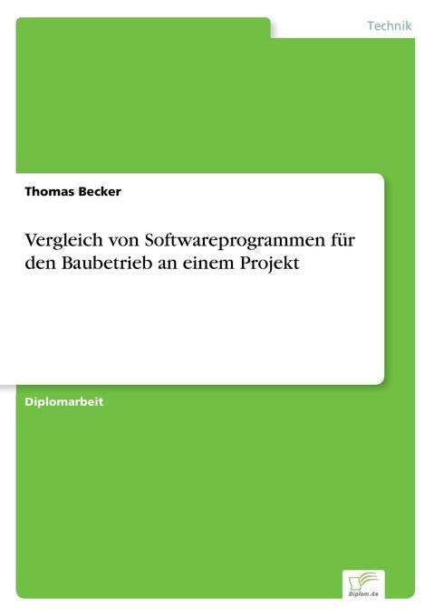 Vergleich von Softwareprogrammen für den Baubet...