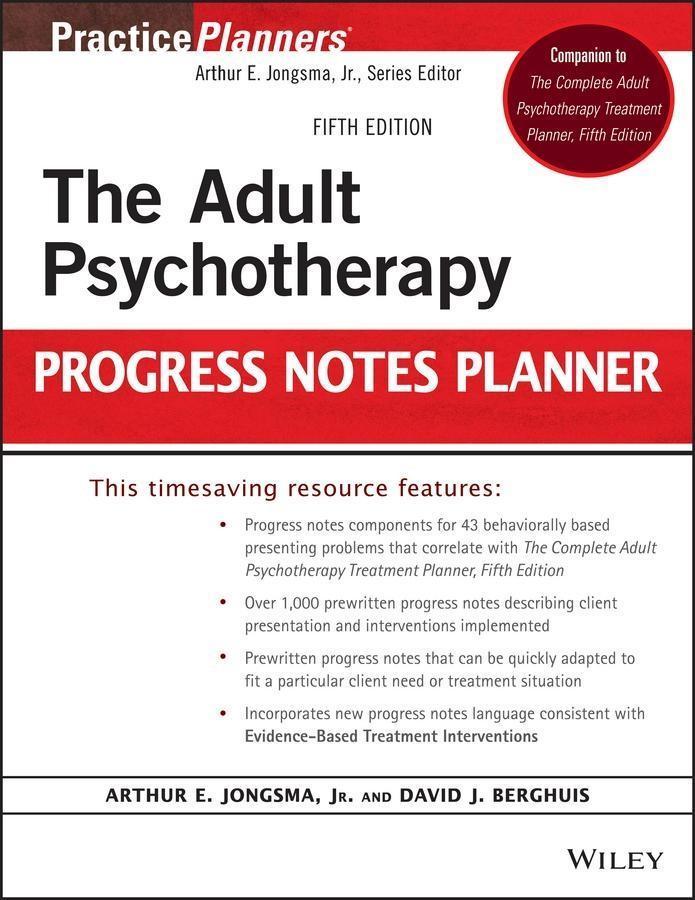 The Adult Psychotherapy Progress Notes Planner als eBook epub