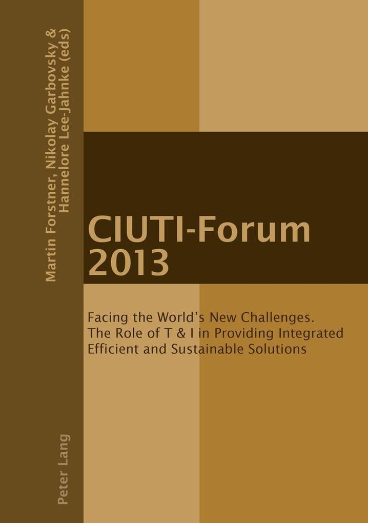 CIUTI-Forum 2013 als Buch (gebunden)
