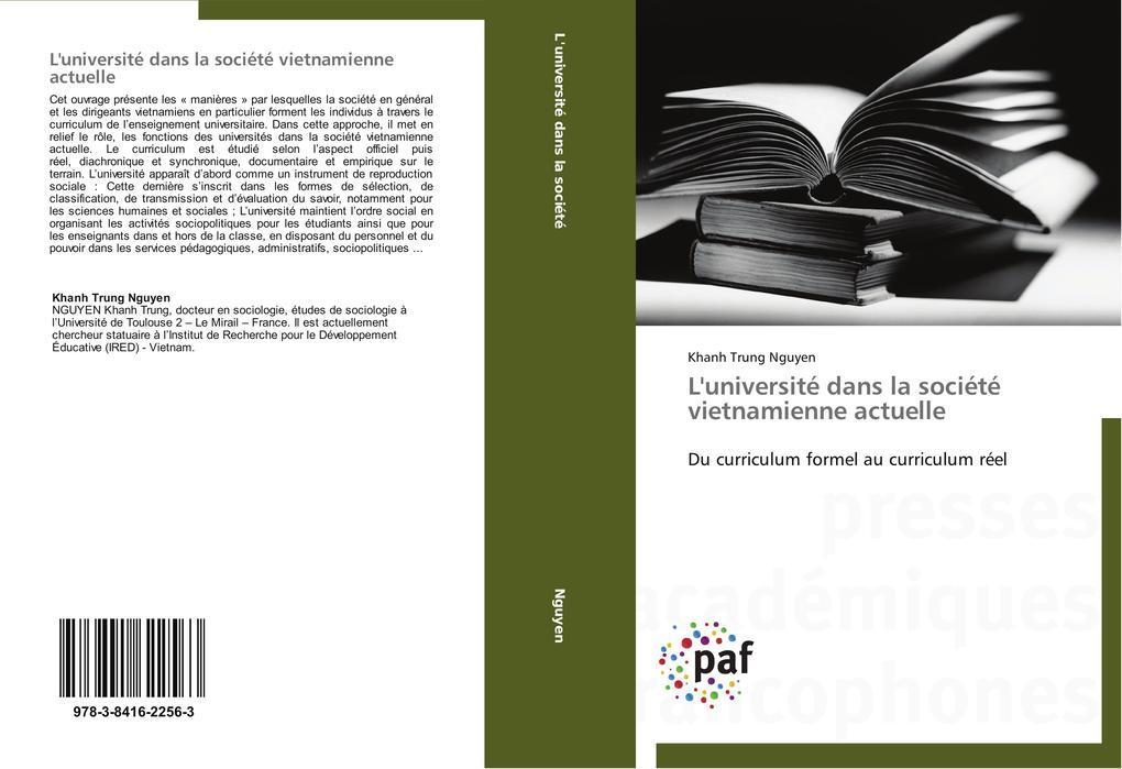 L'université dans la société vietnamienne actuelle als Buch (gebunden)
