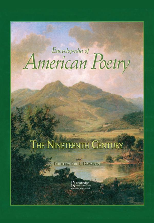Encyclopedia of American Poetry: The Nineteenth Century als eBook epub