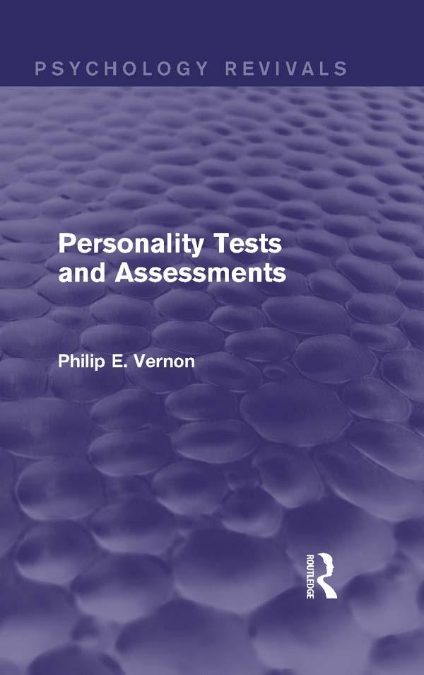Personality Tests and Assessments (Psychology Revivals) als eBook epub