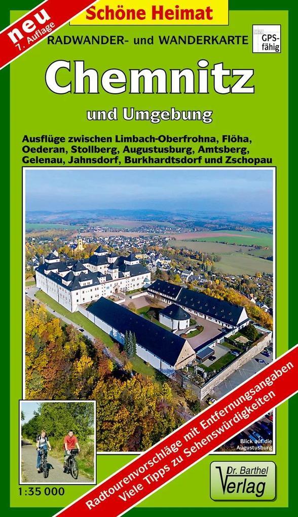 Radwander- und Wanderkarte Chemnitz und Umgebung ^1 : 35 000 als Buch