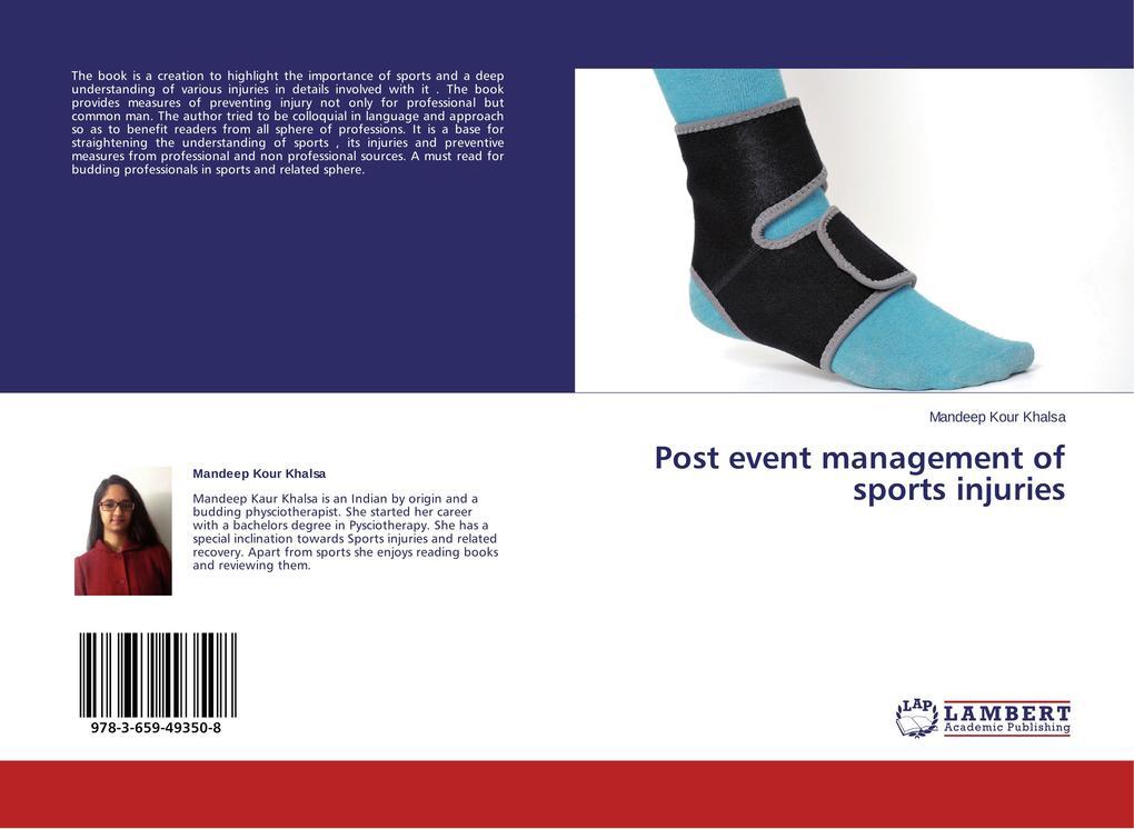 Post event management of sports injuries als Buch (gebunden)