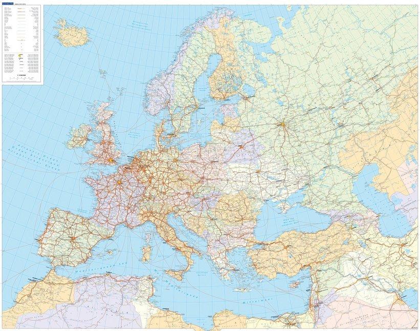 KuF Europa politisch 1 : 4 500 000. Poster als ...