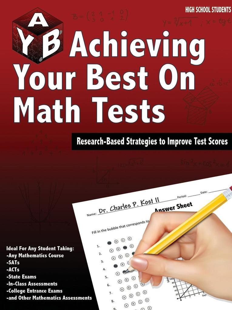 Achieving Your Best on Math Tests als Taschenbuch