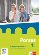 Pontes 1. Arbeitsheft mit Audio-CD und CD-ROM ab Klasse 5