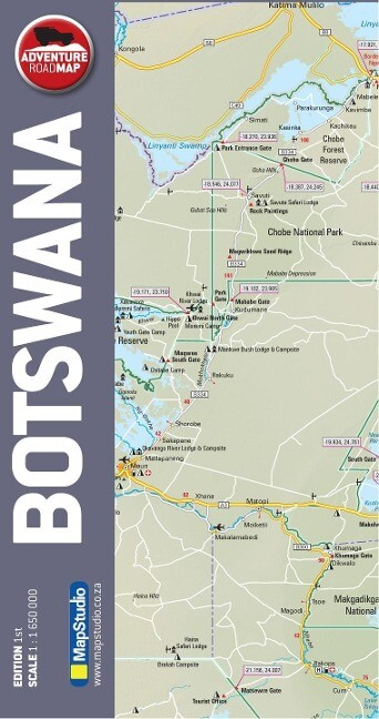 Botswana 1 : 1 650 000 als Blätter und Karten
