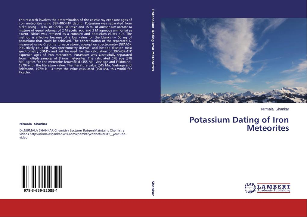 Potassium Dating of Iron Meteorites als Buch vo...