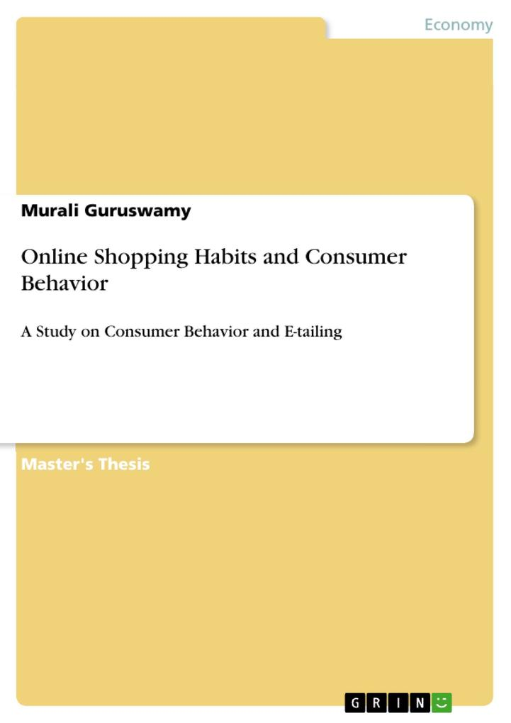 Online Shopping Habits and Consumer Behavior al...