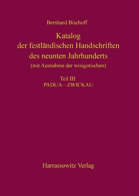 Katalog der festländischen Handschriften des ne...