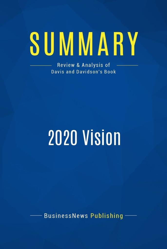 Summary: 2020 Vision als eBook Download von Bus...