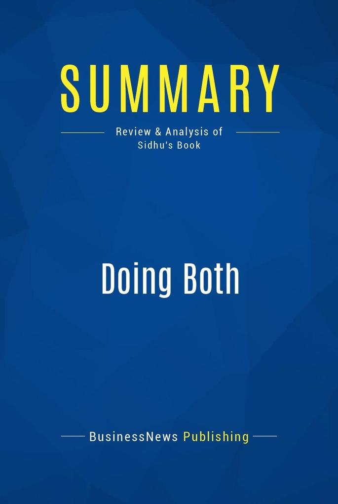 Summary: Doing Both - Inder Sidhu als eBook Dow...