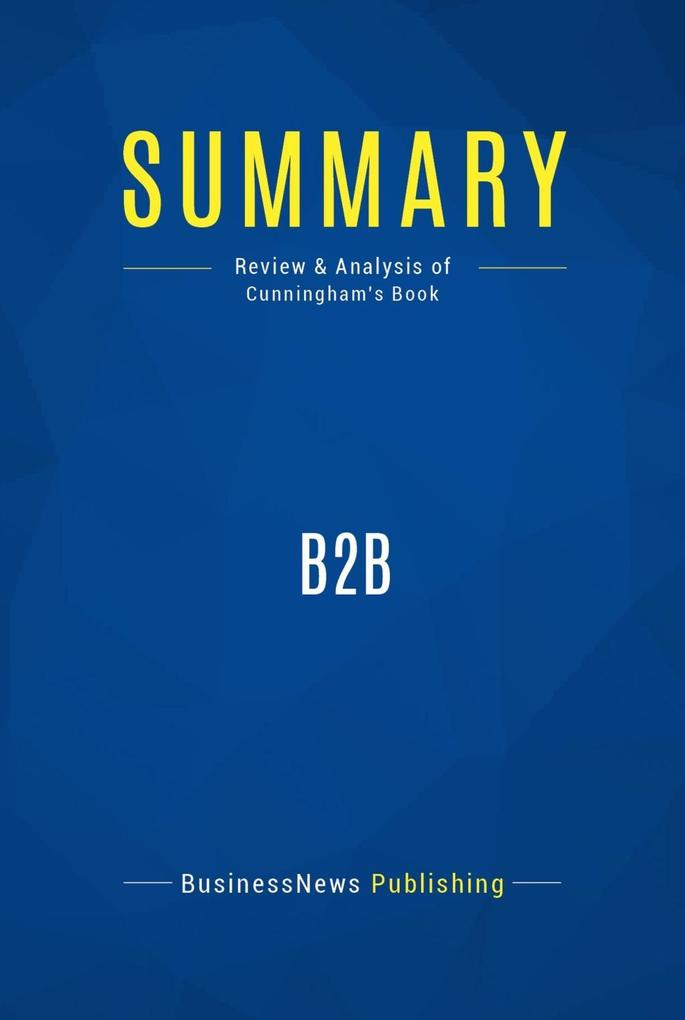Summary: B2B als eBook Download von BusinessNew...