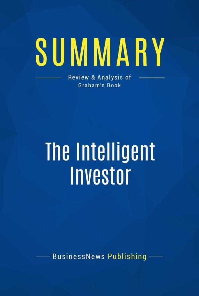 Summary: The Intelligent Investor als eBook Dow...