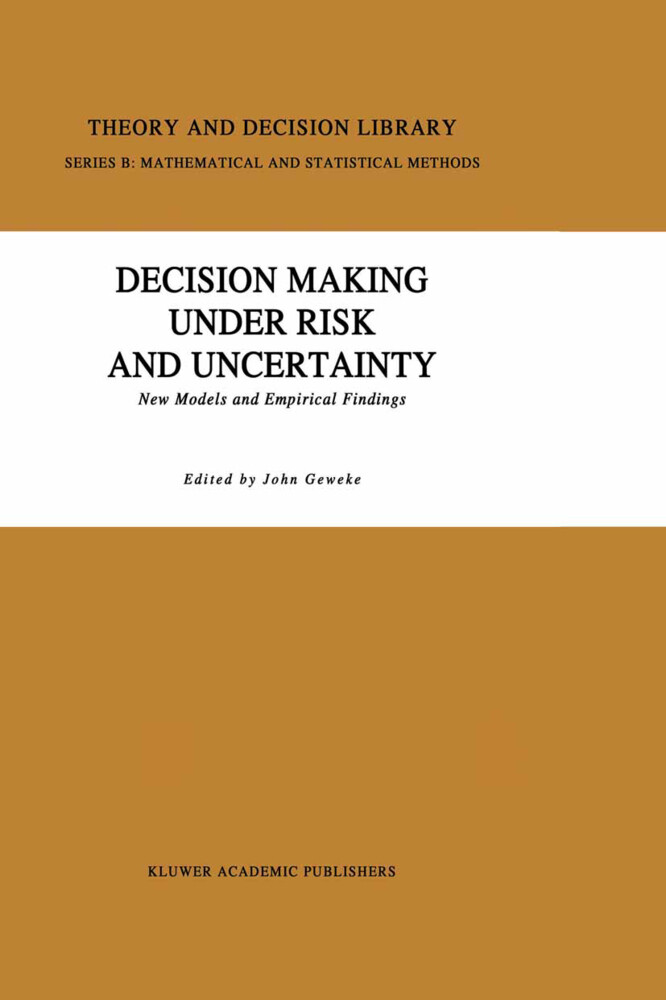 Decision Making Under Risk and Uncertainty als Buch