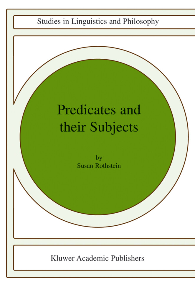 Predicates and Their Subjects als Buch