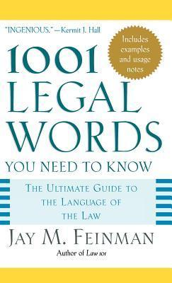 1001 Legal Words You Need to Know als Buch