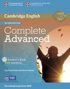 Complete Advanced - Second edition. Student's Book Pack (Student's Book with answers with CD-ROM and Class Audio CDs (3))