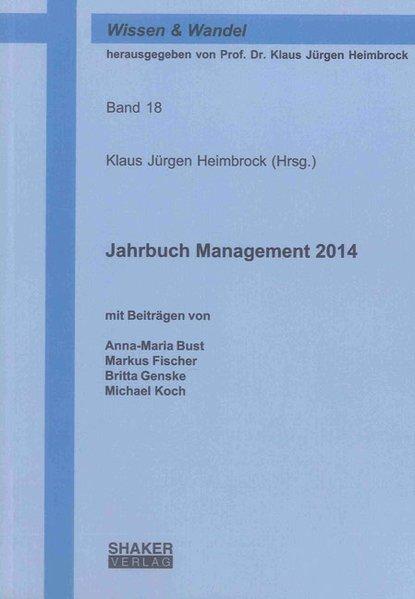 Jahrbuch Management 2014 als Buch von