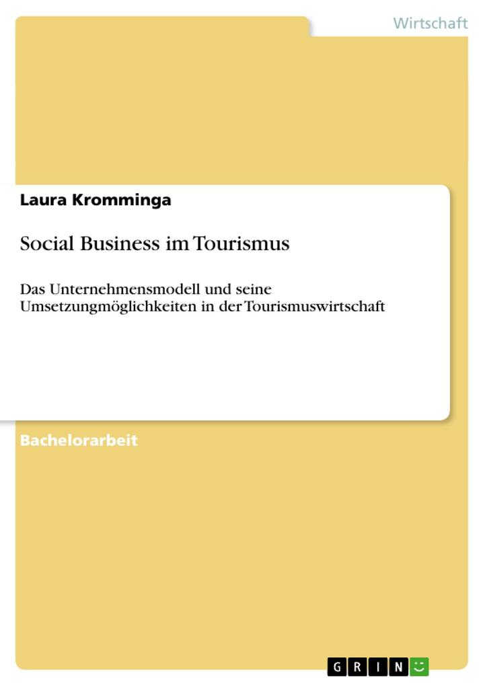 Social Business im Tourismus als Buch von Laura...