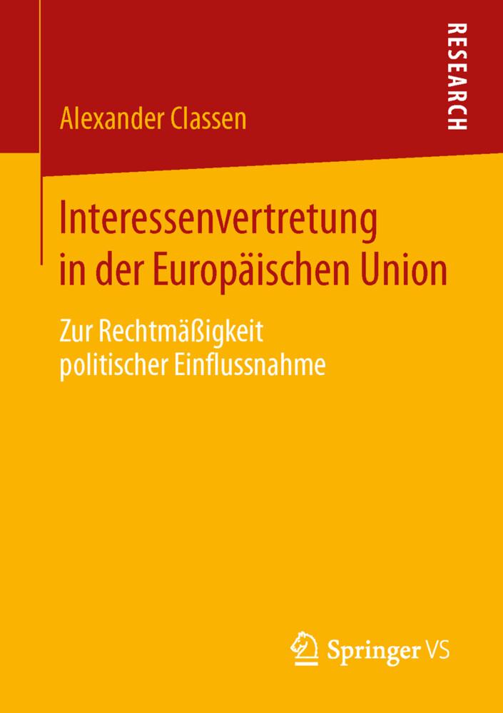 Interessenvertretung in der Europäischen Union ...