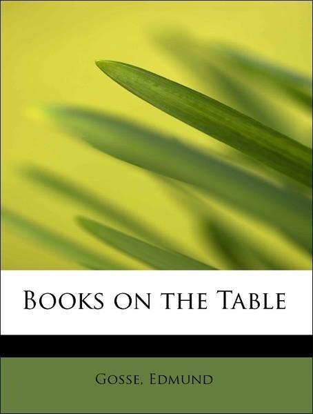 Books on the Table als Taschenbuch von Gosse Ed...