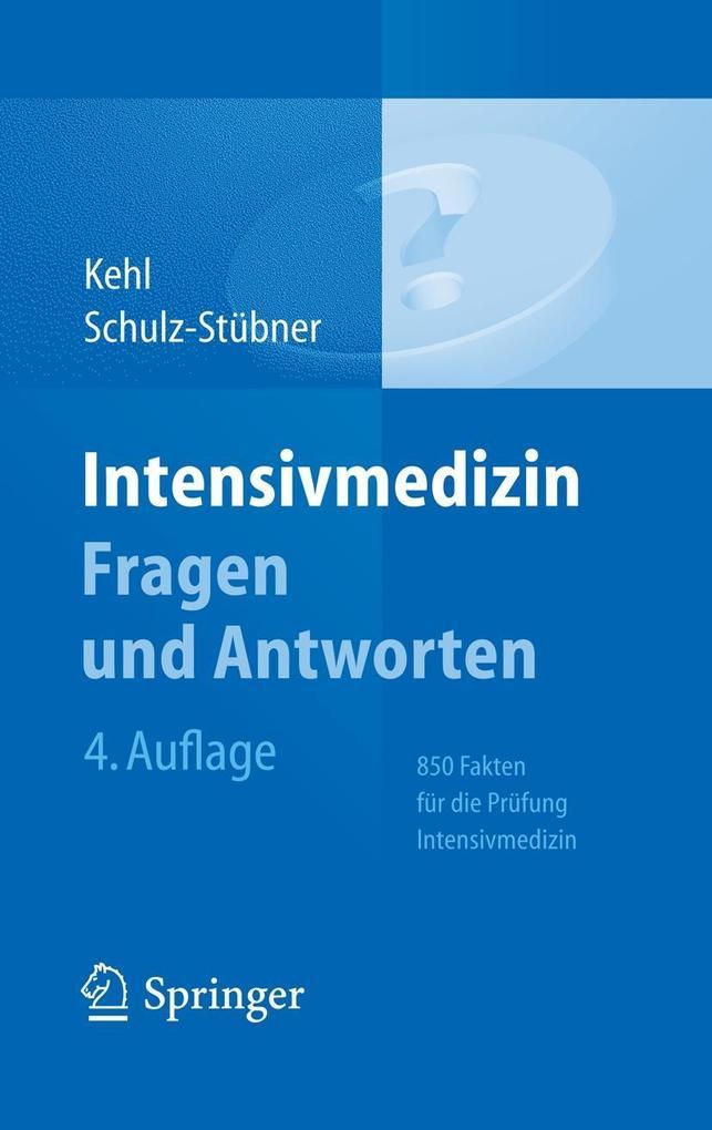 Intensivmedizin Fragen und Antworten als eBook ...