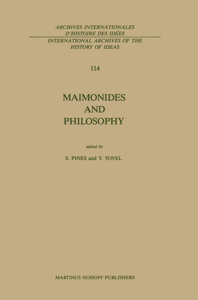 Maimonides and Philosophy als Buch