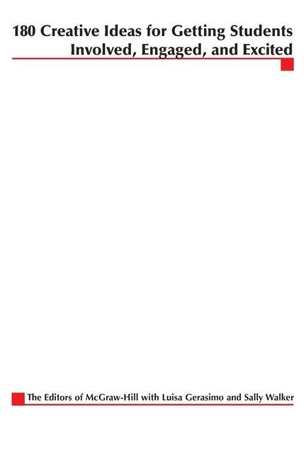 180 Creative Ideas for Getting Students Involved, Engaged, and Excited als Taschenbuch