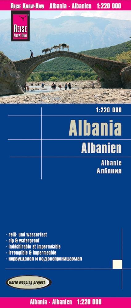 Reise Know-How Landkarte Albanien 1 : 220.000 a...