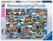 Ravensburger Puzzle - 99 Beautiful Places on Earth, 1000 Teile