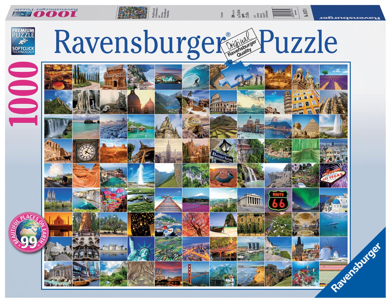 Ravensburger Puzzle - 99 Beautiful Places on Earth, 1000 Teile als sonstige Artikel