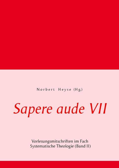 Sapere aude VII als Buch von
