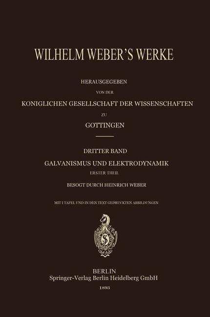 Wilhelm Weber´s Werke als Buch von Heinrich Web...