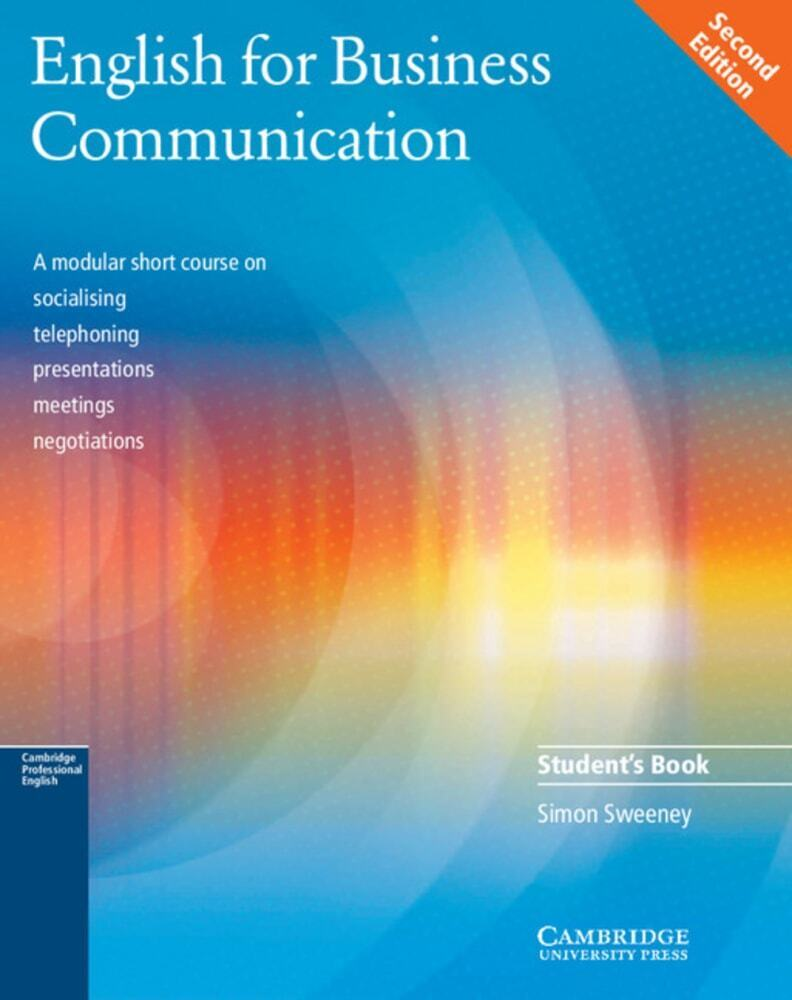 Business Communication Book Cover ~ English for business communication student s book buch