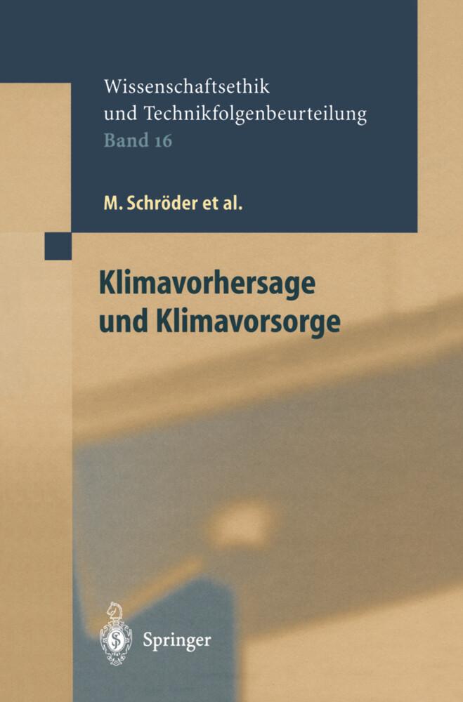 Klimavorhersage und Klimavorsorge als Buch