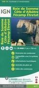 IGN 75 000 Baie de Somme Cote d'Albatre Fecamp Etretat