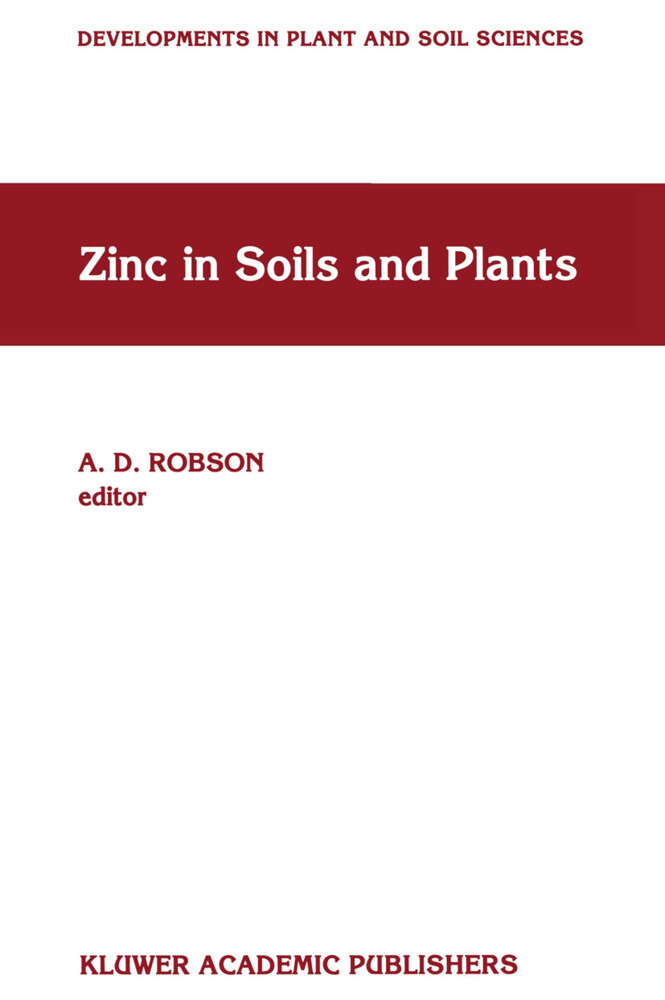 Zinc in Soils and Plants als Buch