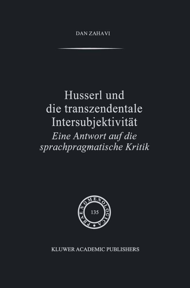 Husserl und Die Transzendentale Intersubjektivität als Buch