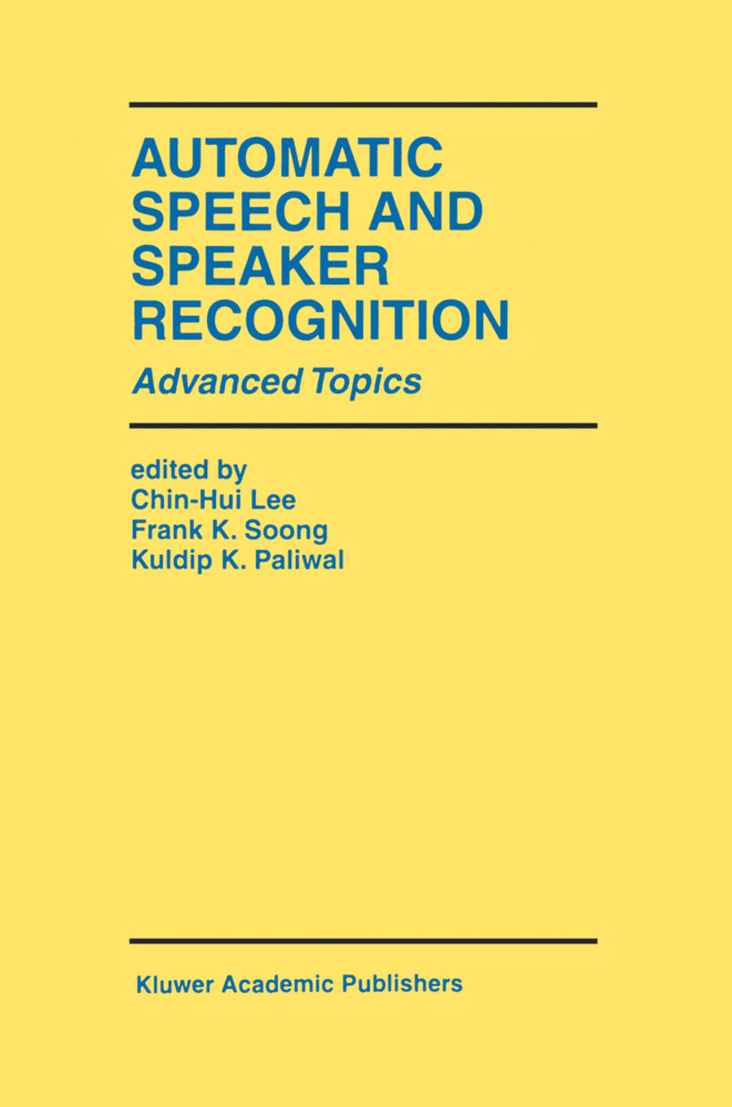Automatic Speech and Speaker Recognition als Buch