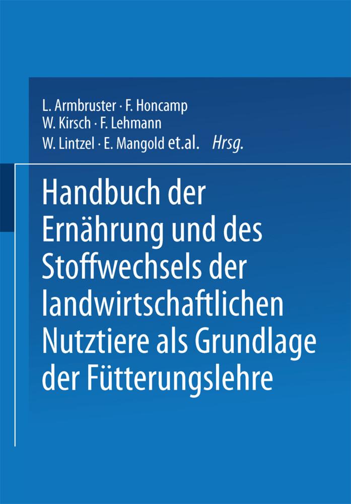 Handbuch der Ernährung und des Stoffwechsels de...