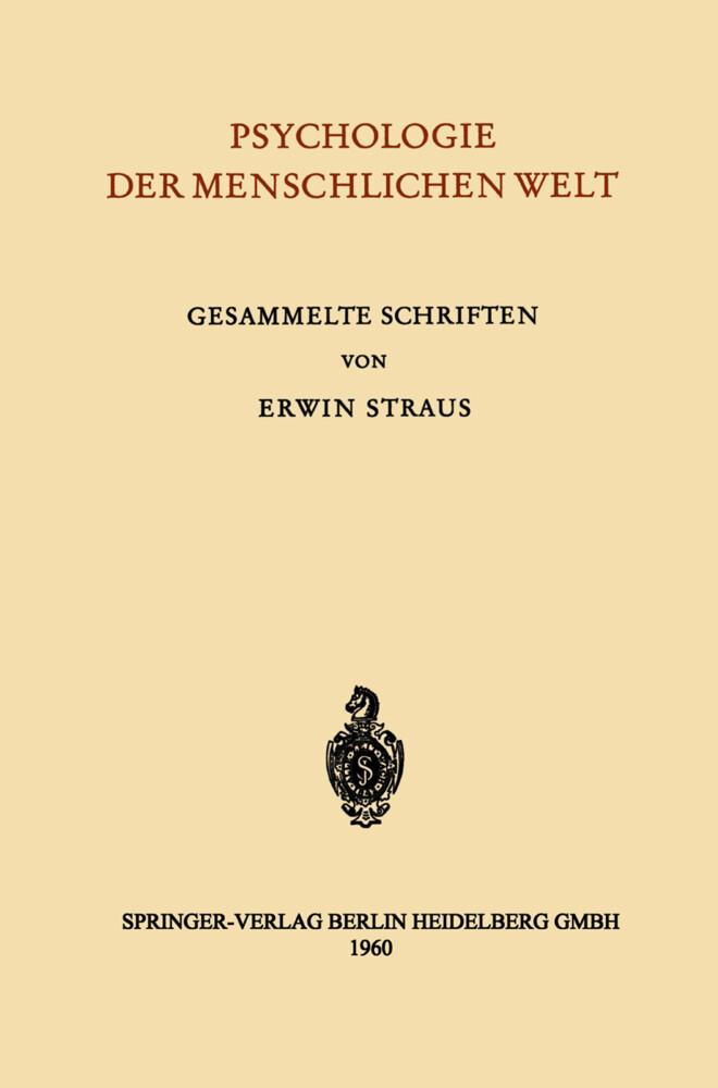Psychologie der Menschlichen Welt als Buch von ...