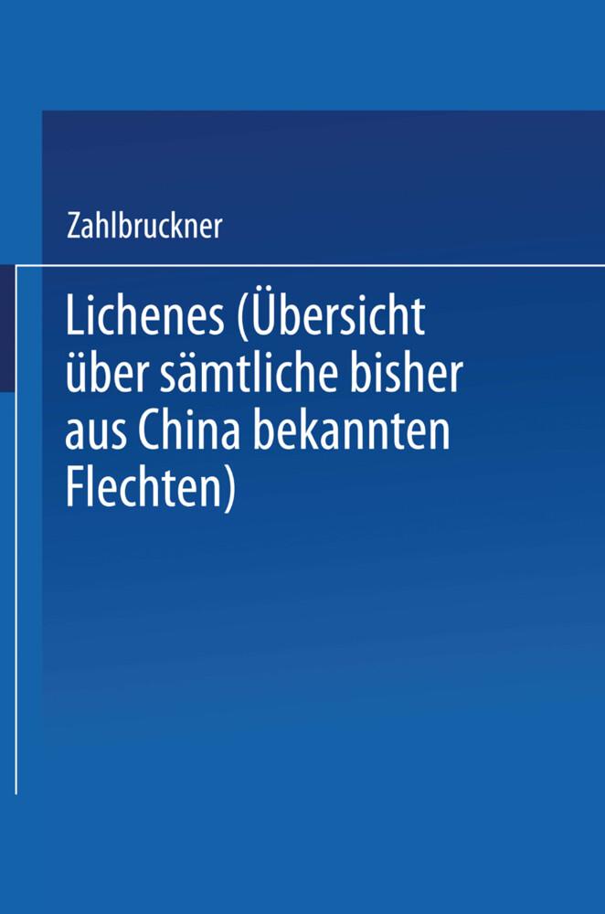 Lichenes als Buch von Alexander Zahlbruckner