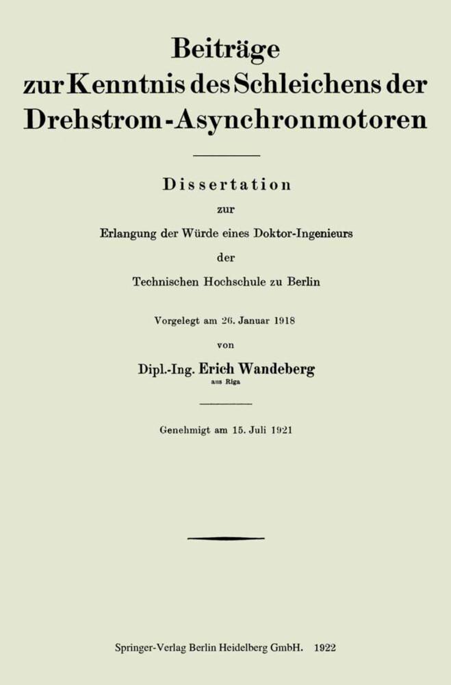 Beiträge zur Kenntnis des Schleichens der Drehs...