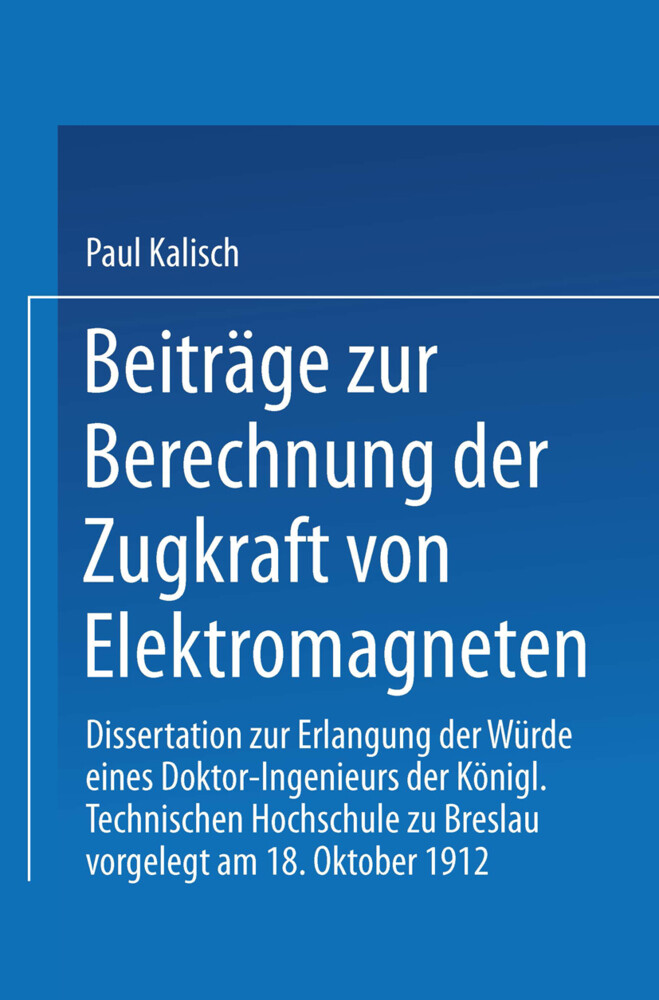 Beiträge zur Berechnung der Zugkraft von Elektr...