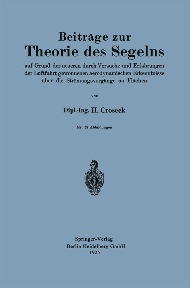 Beiträge zur Theorie des Segelns als Buch von H...