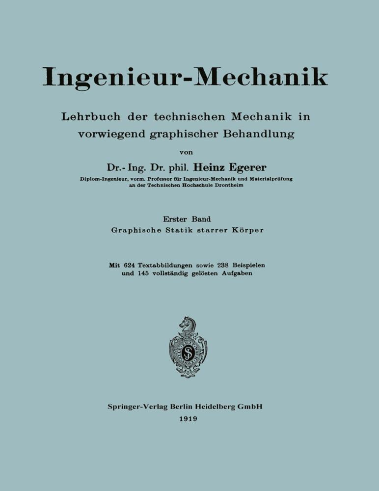 Ingenieur-Mechanik als Buch von Heinz Egerer