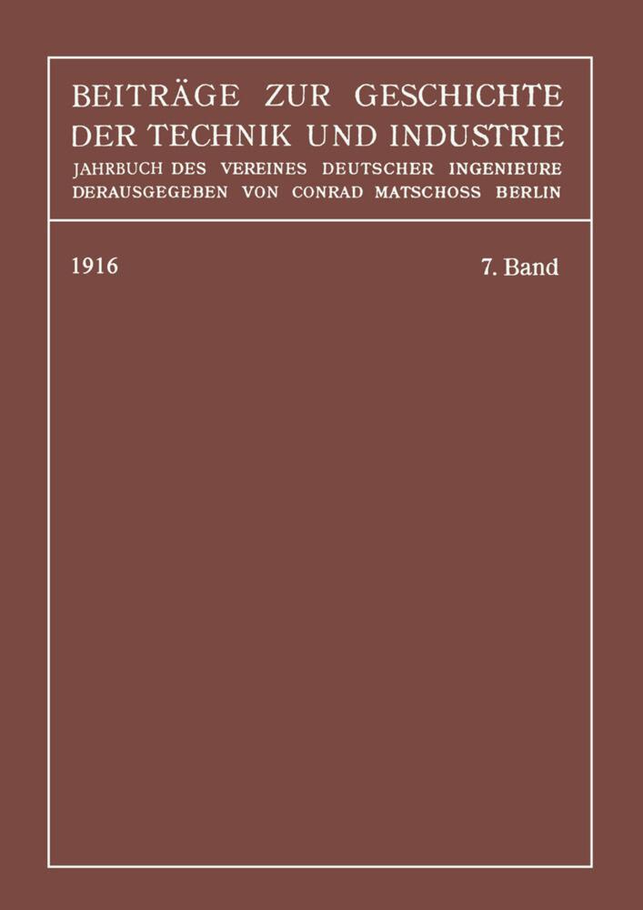 Beiträge zur Geschichte der Technik und Industr...